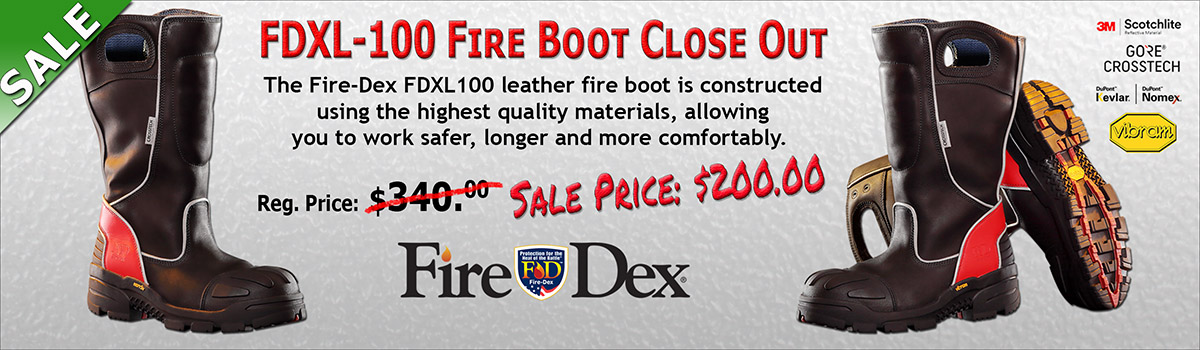Fire-Dex FDXL-100 Red Leather Boot Close-Out
