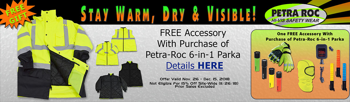 High-Vis Petra-Roc 6-in-1 Parka FREE Accessory