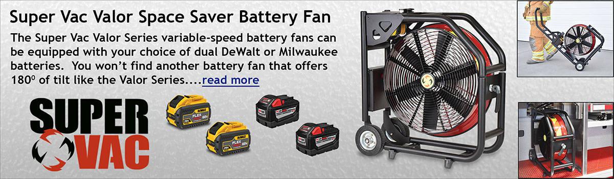 Super Vac Valor Space Saver Battery Fan